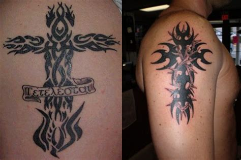 tribal cross tattoo meaning tribal cross tattoos ideas designs meaning
