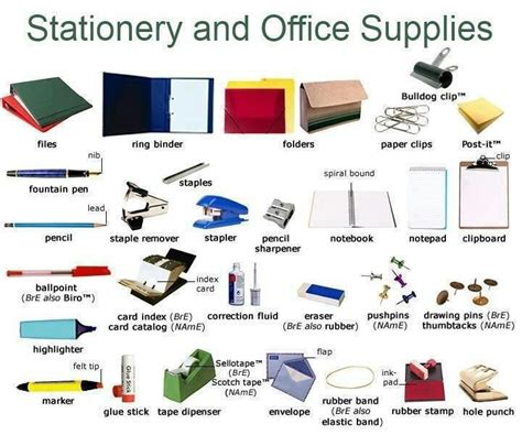Office Supplies Synonym 1000 Images About Business Vocabulary Esl On