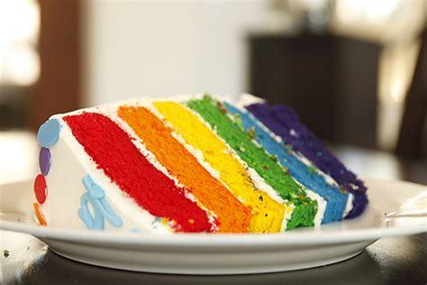 teks prosedur membuat rainbow cake promosi