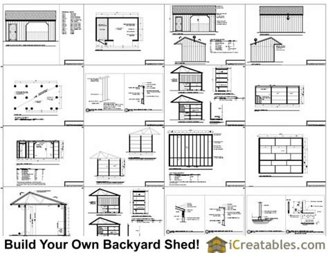 Run In Shed Plans Free 12x22 run in shed plans with tack room