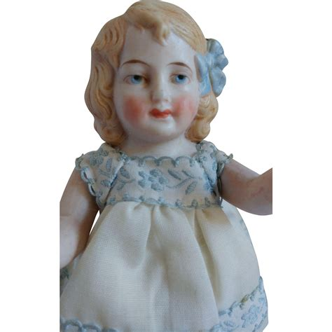 bisque doll molded hair german all bisque 5 doll with molded hair and bow