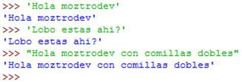 cadenas de texto en python moztrodev aprendiendo a programar con python ii cadenas