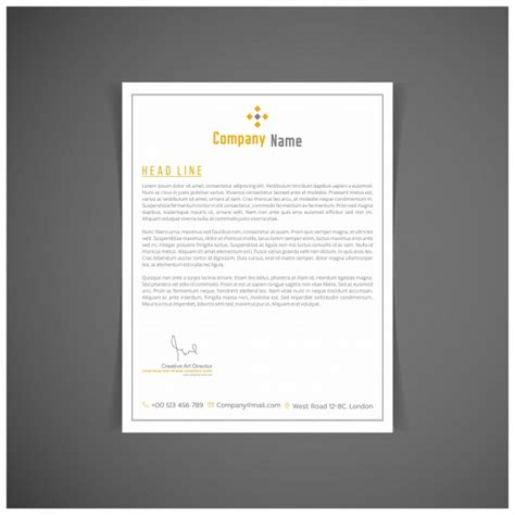 modern business letterhead modern business letterhead vector free