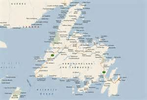 map nfld canada newfoundland wanderings