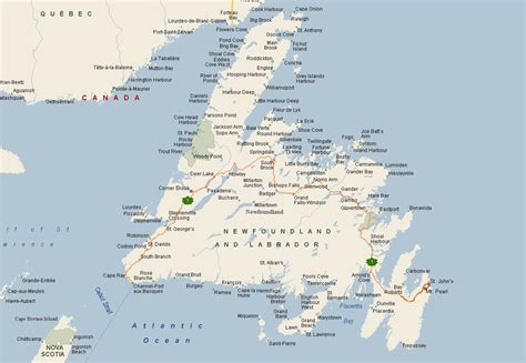newfoundland map newfoundland wanderings