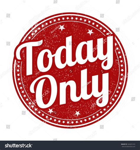 today only grunge rubber st on stock vector 324201410