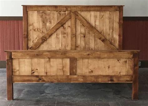 Diy Rustic Bed Frame Rustic King Size Farmhouse Bed W Platform