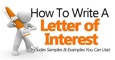 how to write a letter of interest sle included