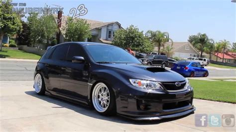 subaru wrx hatchback stance stanced 2013 hatchback subaru wrx on 3 wheels ajenriqu