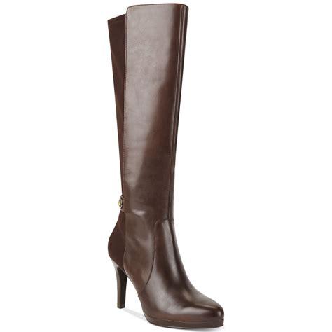 tahari garrett dress boots in brown lyst
