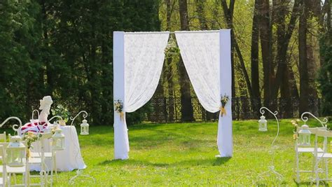 Wedding Aisle Set Up by Shadow Shape Of Two An Umbrella