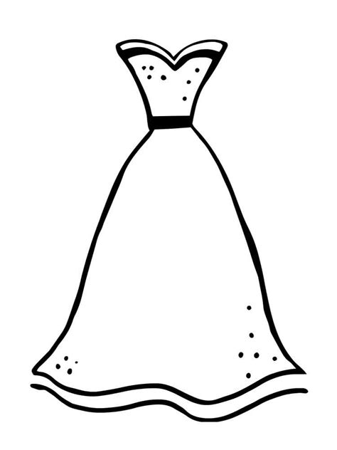 Coloring Page Dress by Dress Coloring Pages Free Printable Dress Coloring Pages