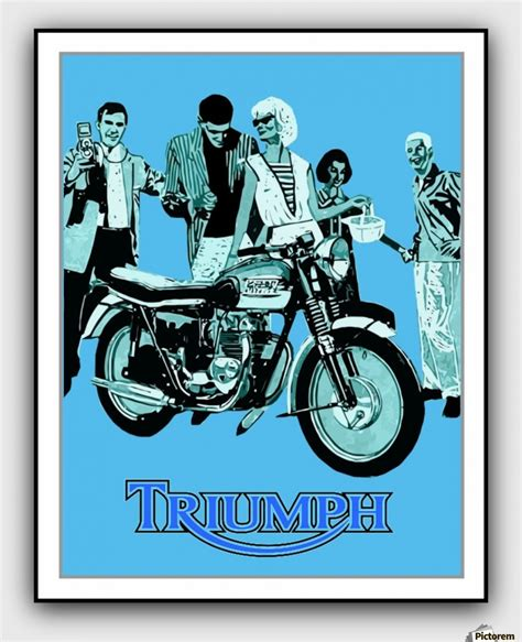 Triumph Motorrad Poster by Triumph Motorcycle 1960 Vintage Advertising Poster
