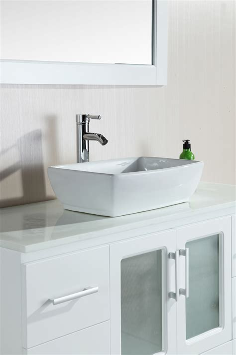 single bathroom vanity with vessel 48 quot stanton single vessel vanity b48 vs w