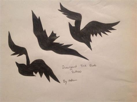 tris divergent divergent tris birds tattoo drawing