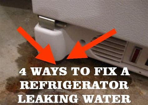 5 ways to fix a refrigerator leaking water us2