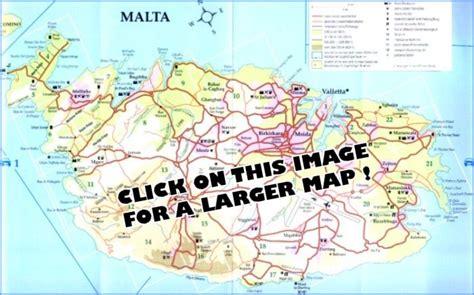 printable road map of malta maps malta map islands
