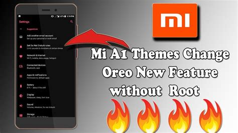 themes for mi a1 mi a1 themes change oreo new feature no root youtube