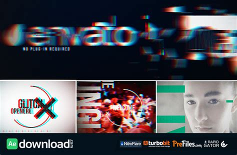 glitch opener videohive project free download free
