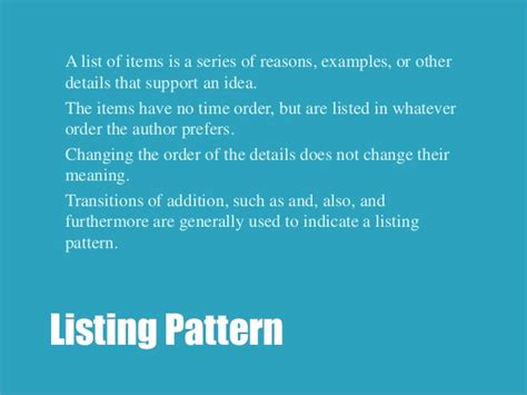 exle of listing pattern of organization eng 83 r transitions and patterns of organization