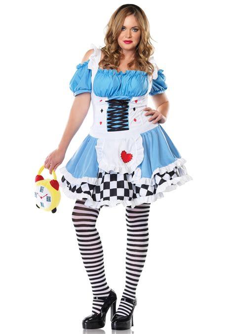 alice in wonderland halloween costume plus size and plus size miss wonderland costume