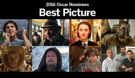 what are the nominees for the 2016 best picture oscar january 2016 faculty forum