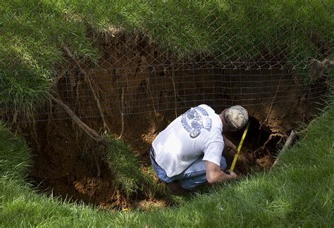 small sinkhole in backyard lower allen township pennsylvania april 16th 2011