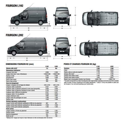 renault trafic dimensions renault commercialise le h2 la version haute du trafic