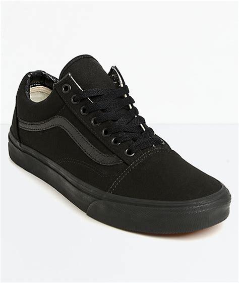 Vans Oldskool Mono Vintage Black vans skool mono skate shoes zumiez