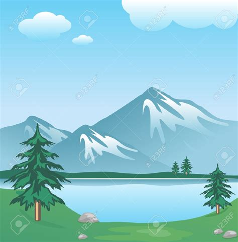 Lake Clipart Free mountain and lake clipart clipartsgram