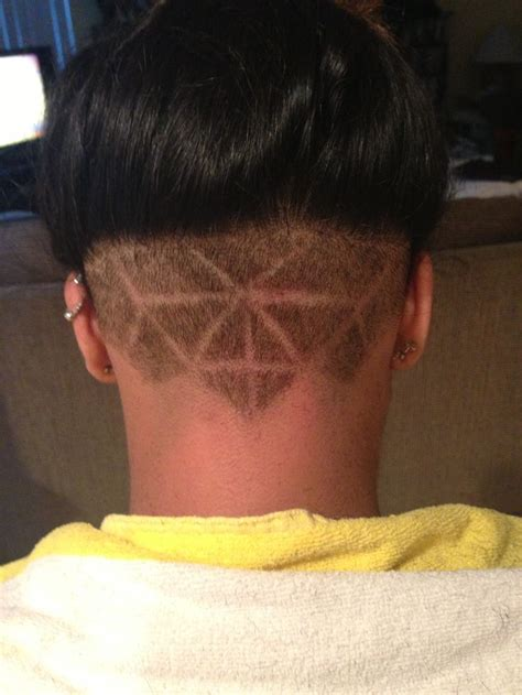 natural hair shaved nape nape undercut on natural hair cool designs pictures