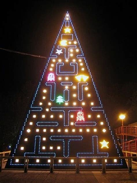 pac man christmas tree lights lighting christmas