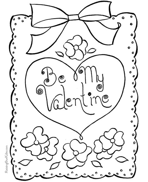 coloring page valentine cards valentine coloring sheets 017