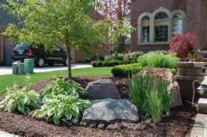 Home Plans For Sloping Lots frontyard landscape traditional landscape nashville