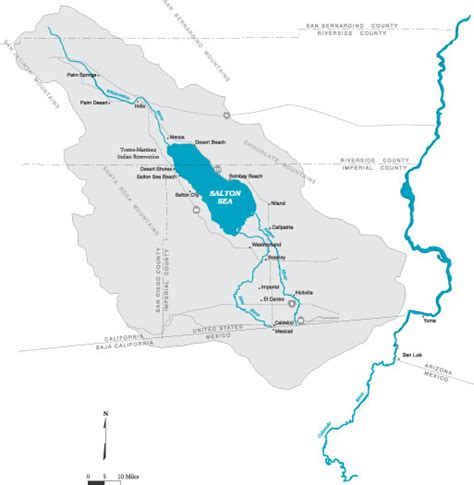 salton sea watershed map
