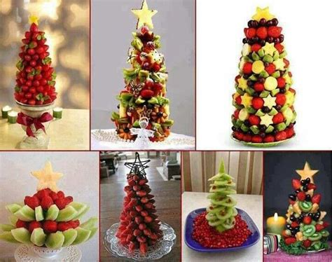fruit salad christmas tree desserts pinterest