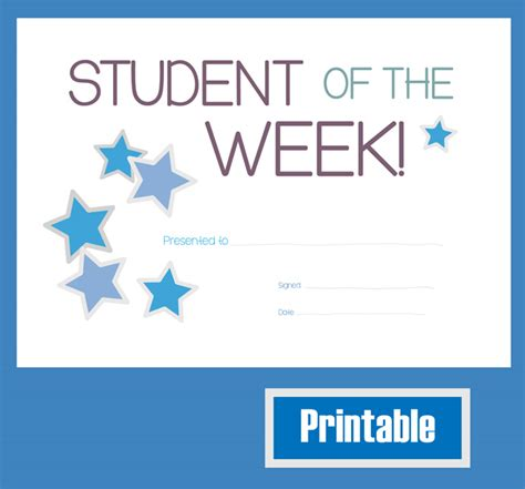 student of the week certificate template free best photos of printable certificates for students