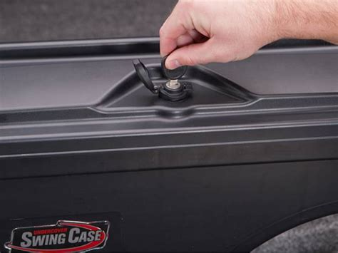 swing case truck bed tool box undercover swing case toolbox realtruck com
