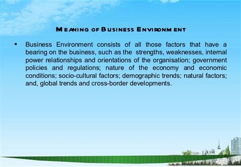 Business And Environment Notes For Mba by Business Environment Ppt Bec Doms Mba 2009 10