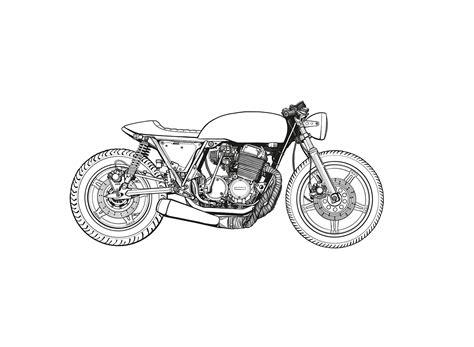 scribble doodle draw cafe racer drawing rocketgarage cafe racer magazine