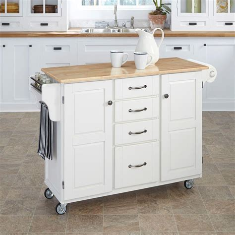 Home Styles Create A Cart Natural Kitchen Cart With Quartz | home styles create a cart white kitchen cart with natural