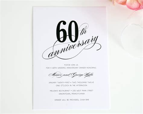 60th anniversary invitations templates 60th anniversary invitations template best template collection