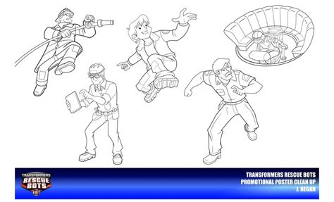 coloring page rescue bots rescue bots clean up poster models by thegreatjery on