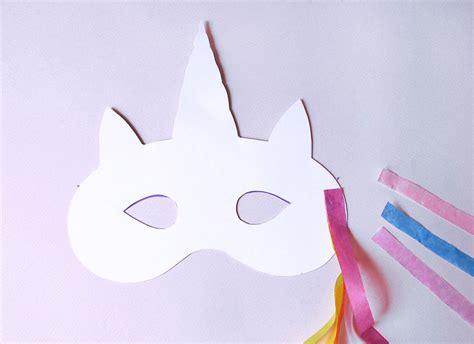 printable unicorn horn how to make a magical unicorn mask paperchase journal