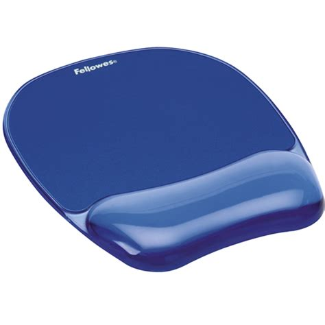 gel mousepad wrist rest crystals blue fellowes 174
