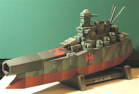 Battleship Papercraft - dolphin blue iso gawara class battleship paper model