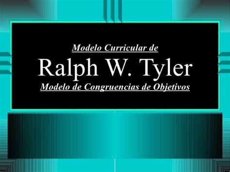 Modelo Curricular De Ralph W Modelo Curricular De Ralp W