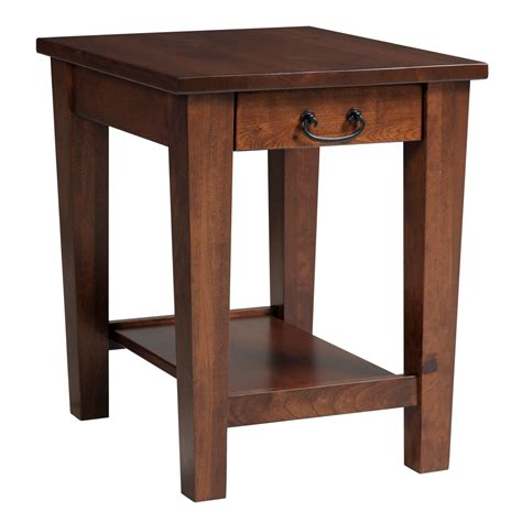 accent table with drawer y t urban shaker end table stewart roth furniture