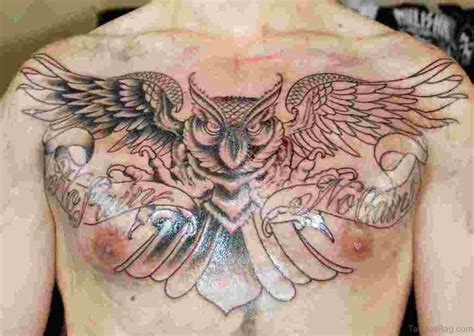 no pain no gain tattoo 70 outstanding owl tattoos for chest