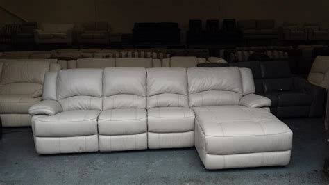 used sofa birmingham ronson light grey leather large electric and manual